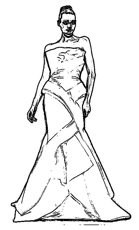 Rafael Cennamo dress coloring page