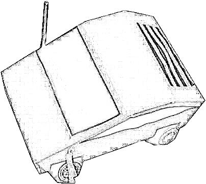 colouring picture of a papercraft sportswagon