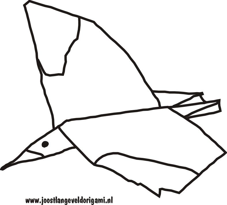 colouring picture of a flying gull