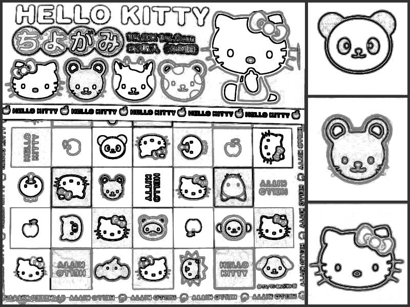Hello Kitty colouring picture