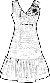 Dress fashion coloring picture