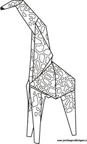Colouring picture of an origami giraffe