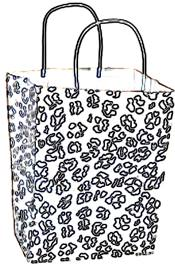 Bag with Leopard print coloring picture