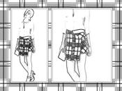 Plaid skirt coloring picture
