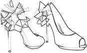 colouring picture of Rihanna origami shoes
