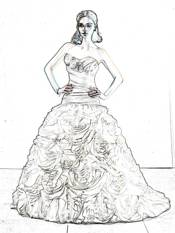 wedding dress coloring picture