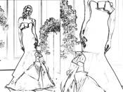 Wtoo wedding dress coloring picture