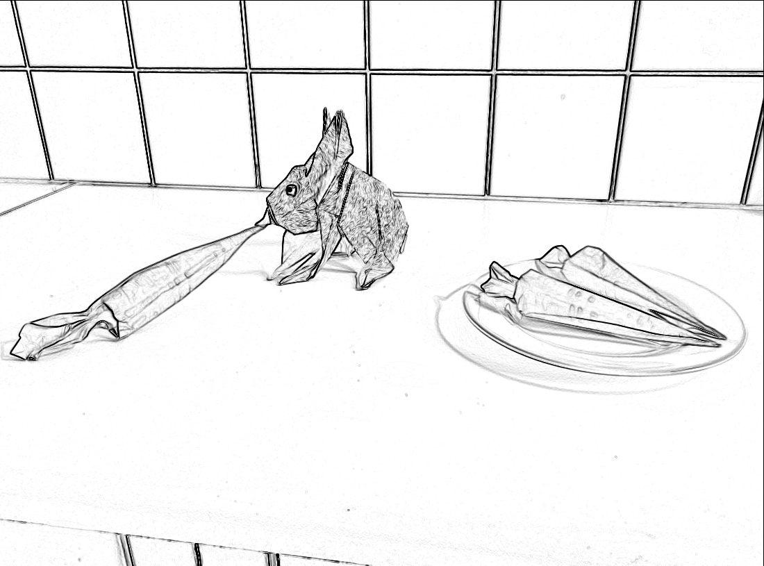 Kleurplaten Konijn In Hok.Joost Langeveld Origami Pagina