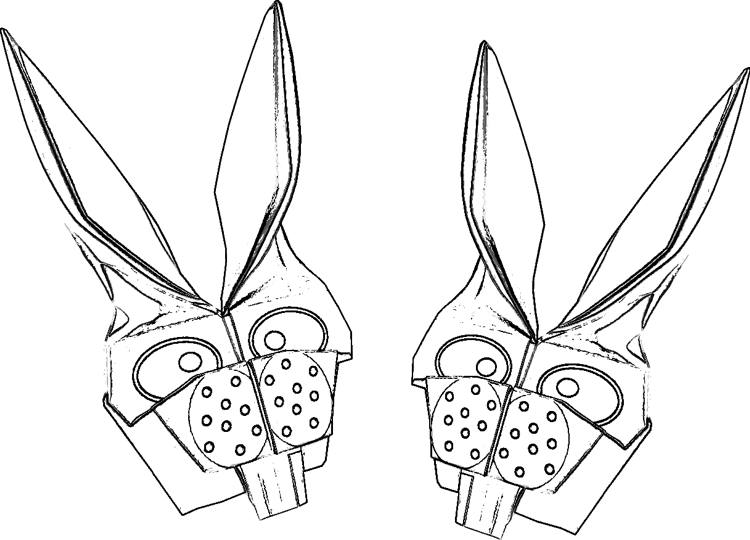origami rabbit bookmarks