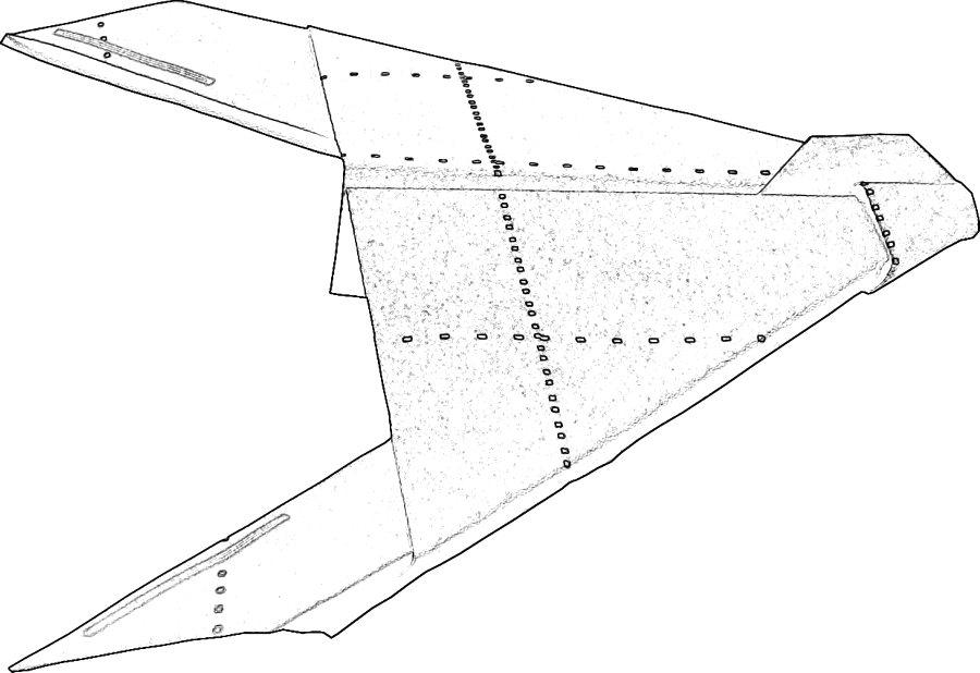 kleurplaat van een straaljager: Stealth Bomber