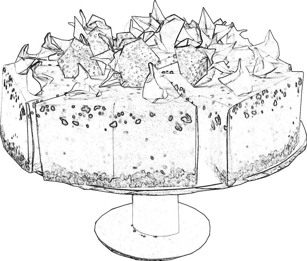 Strawberry Cake coloring picture