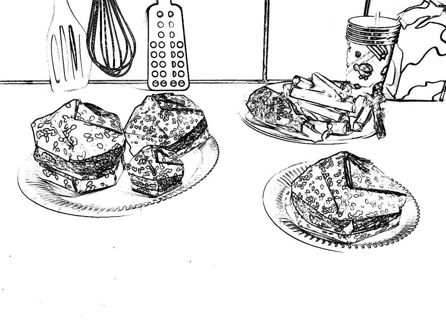 Hamburgers coloring picture