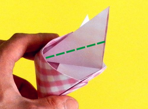 How to fold a cute paper origami bag