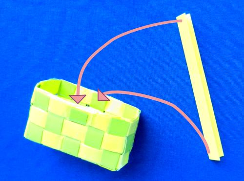 Weave a gift basket out of paper strips