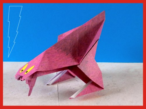 origami monstertje van papier
