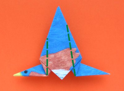how to fold an origami bluebird