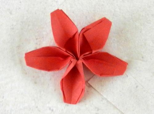 Joost langeveld origami page origami flower with five cute petals mightylinksfo