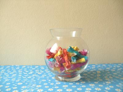 realistic looking origami candy