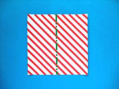 piece of paper for making an origami candy cane