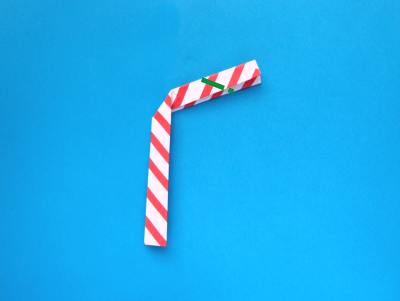 how to make an origami candy cane