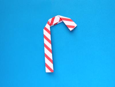 sweet origami candy cane