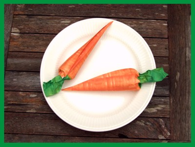 easy to fold origami carrots