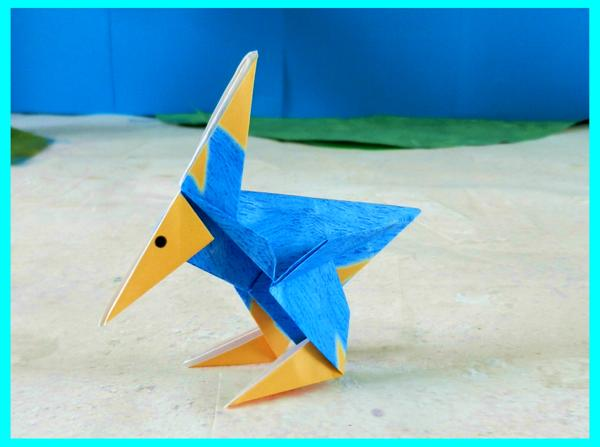 Origami Cartoon Bird