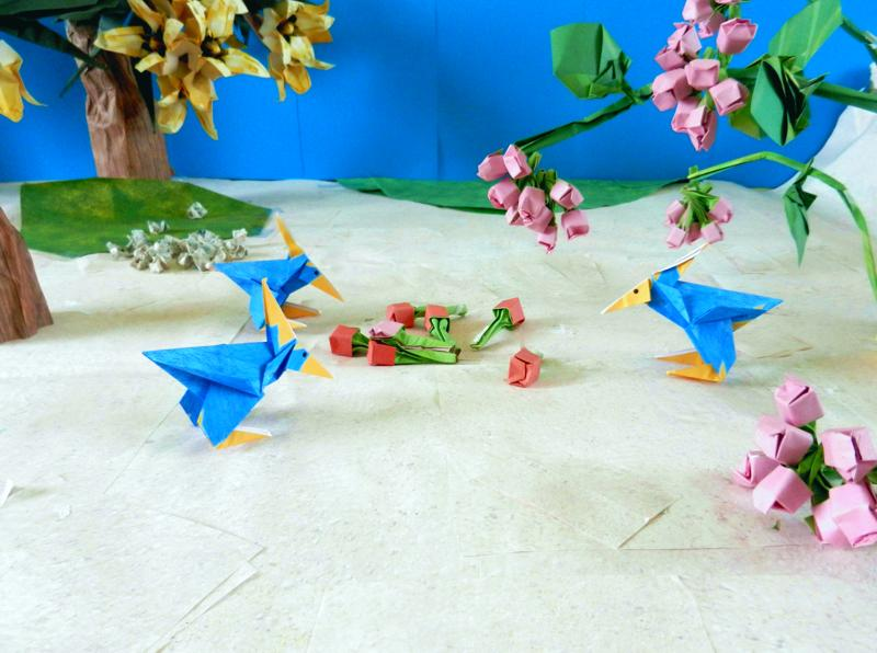 Origami Cartoon Birds