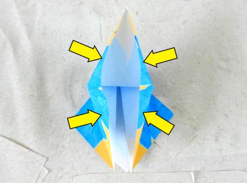 Origami Cartoon Bird instructions