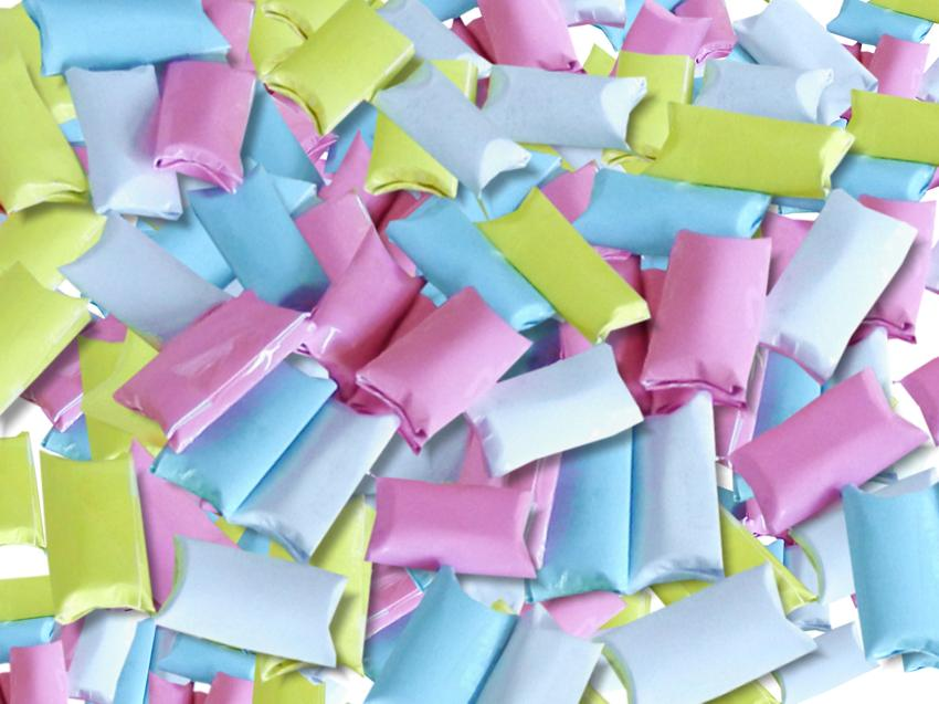 Origami chewing gum pellets