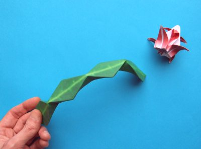 origami christmas cactus instructions