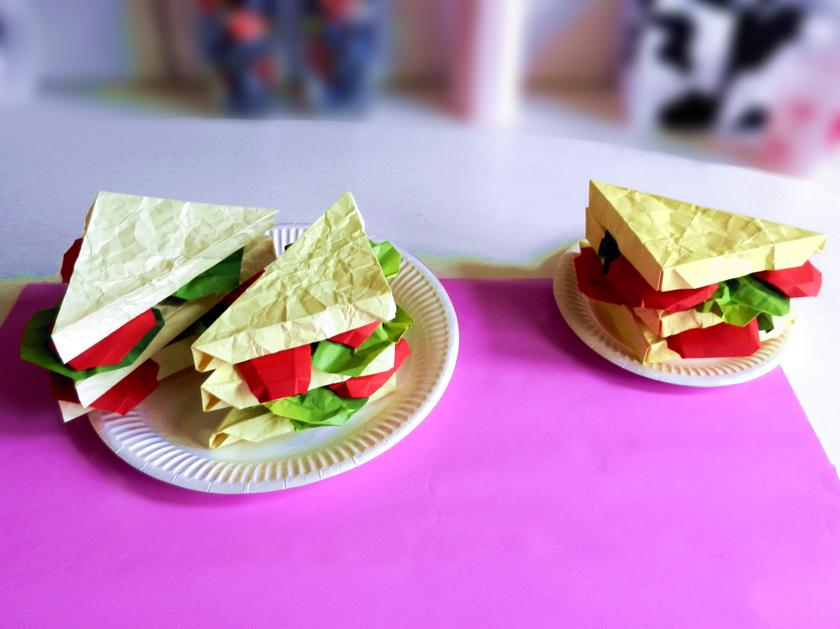 Papieren Club Sandwiches