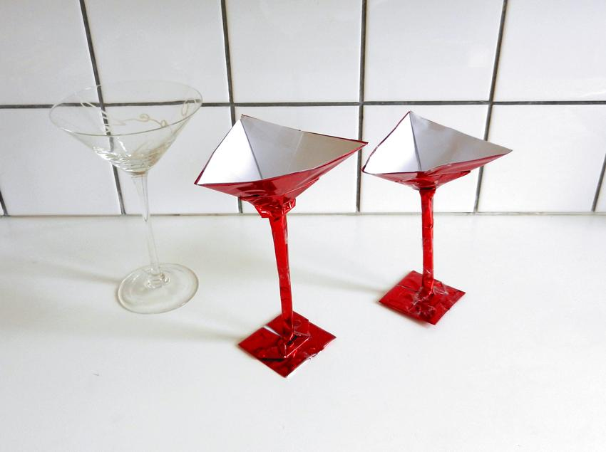 Origami cocktail glasses