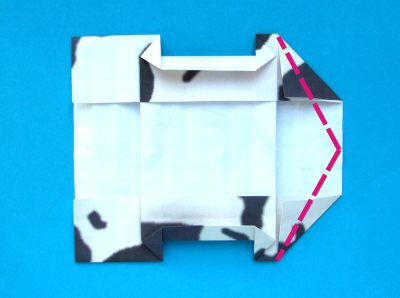 Diagrams For Folding An Origami Cow