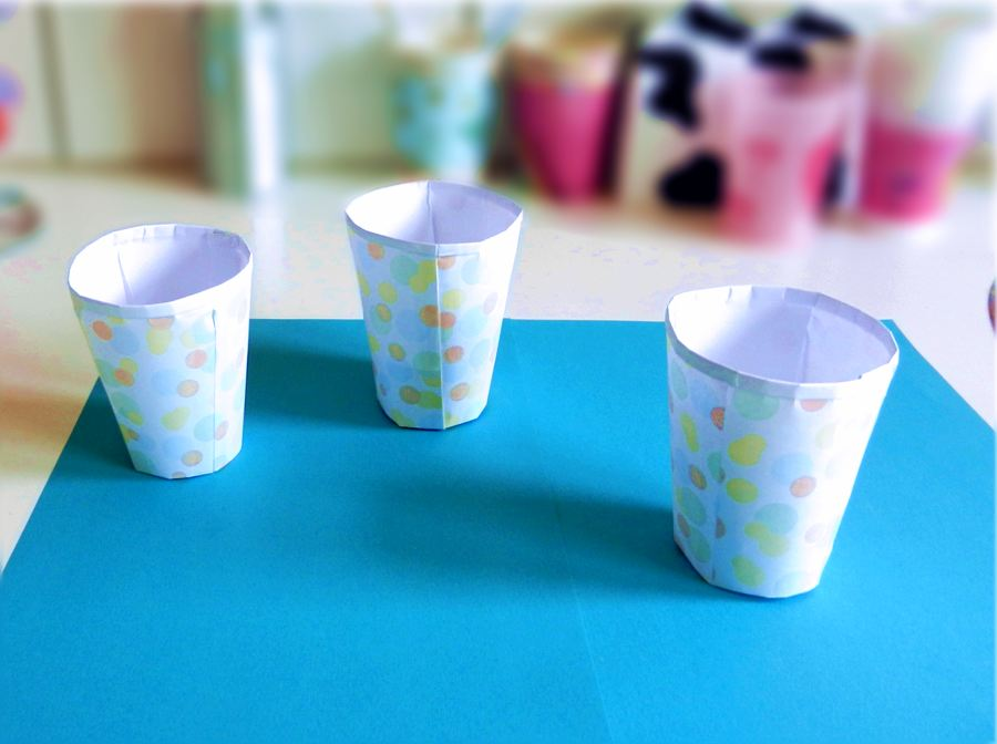Origami party cups