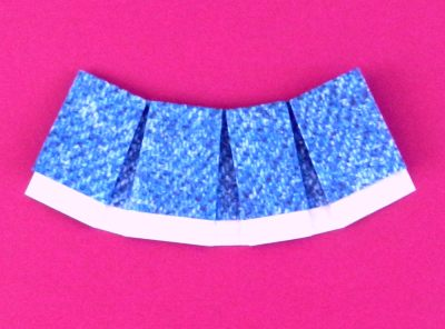 how to fold an origami denim skirt