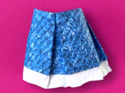 origami denim skirt
