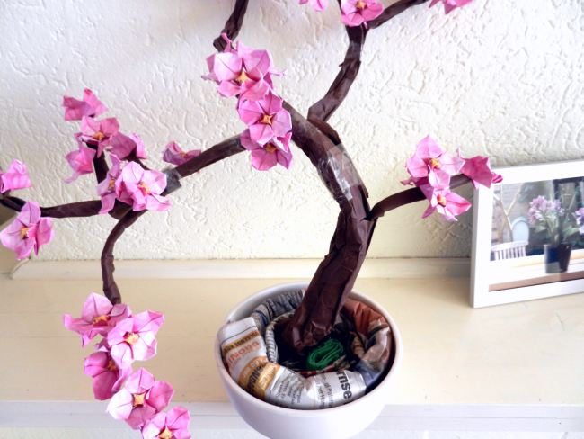 Bonsai Origami flower