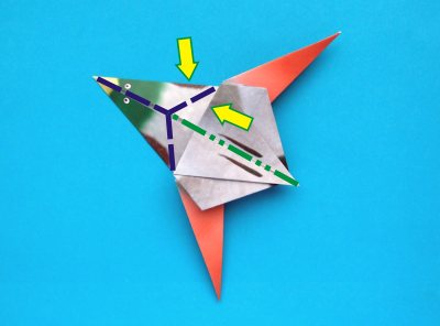 origami duck folding instructions