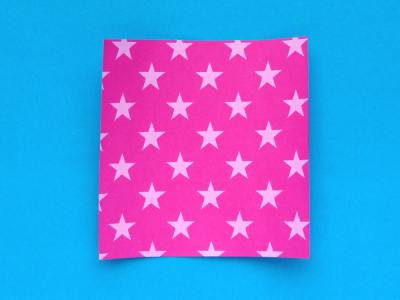 square paper for folding an origami fairy hat