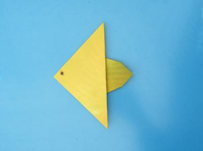 yellow origami fish
