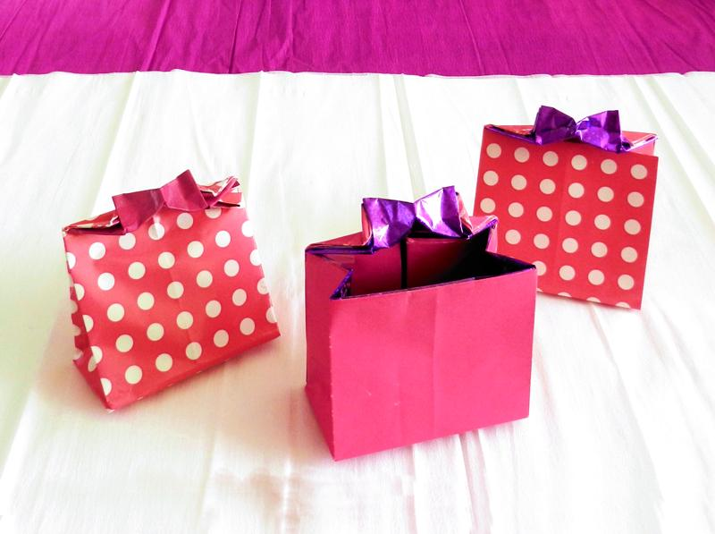 Origami Tubes Gift Bags With Bow Egg Shaped Boxes