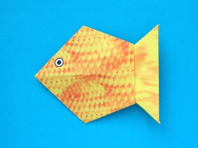 easy origami goldfish