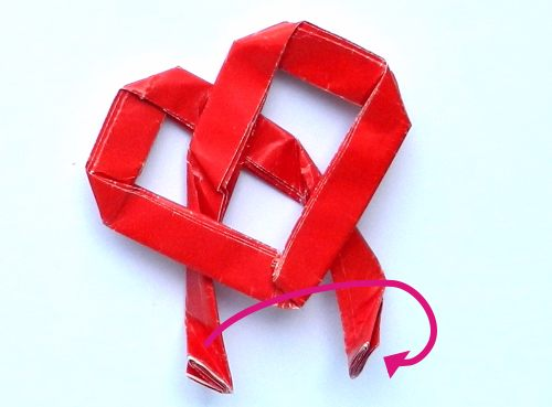 Make a paper Origami Heart Shaped Paper Clip