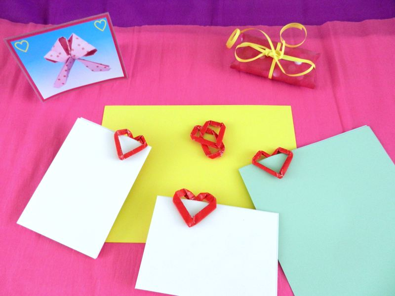 Happy office with heart shaped paper clips