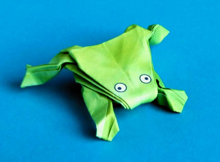advanced jumping origami frog