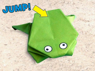 easy to fold origami jumping frog