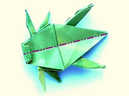 Fold An Origami Jumping Grasshopper