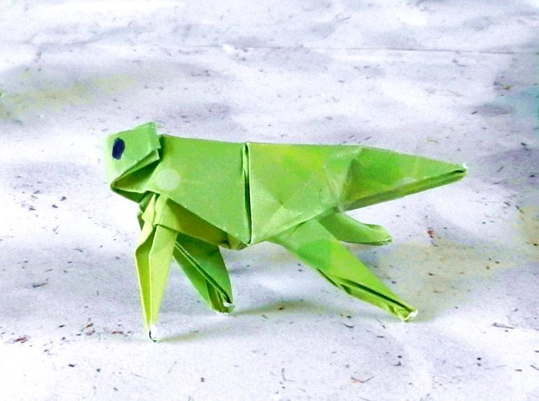 Origami Grasshopper | Origami Grashüpfer; Design: by me (Rud… | Flickr | 573x770