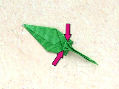 how to fold a cute pointed origami leaf